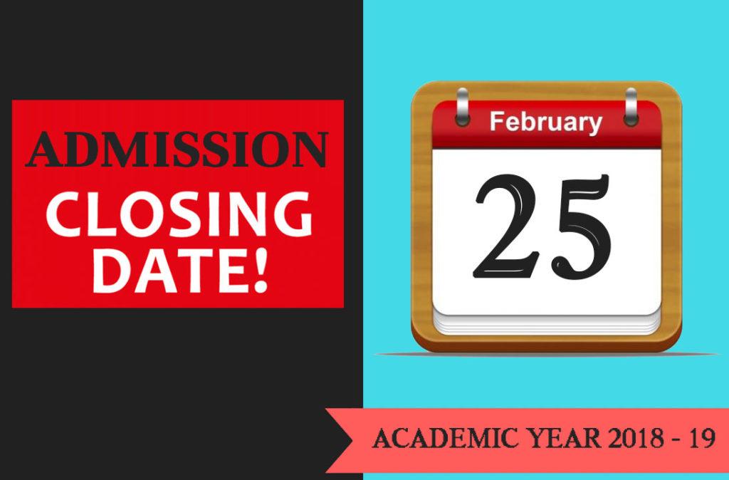 admission closing date
